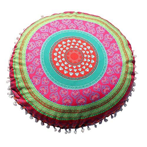 Xmiral Kissenbezüge Home Decor Kopfkissenbezug Indische Mandala-Kissen runder böhmischer Kissenhüllen(E) -