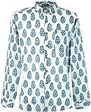 Guru-Shop Goa Hippie Hemd, Herrenhemd, Weiß, Baumwolle, Size:XL, Männerhemden Alternative Bekleidung