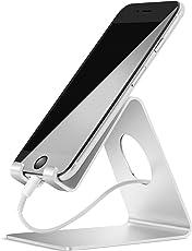Handy Ständer, Lamicall Handy Halterung : Handyhalterung, Halter, Phone Ständer für iPhone Xs Max, Xs, XR, X, 8, 7, 6s 6 / Plus, SE, 5, Samsung S7 S8, Huawei, Tisch Zubehör, Schreibtisch, andere Smartphone - Silber