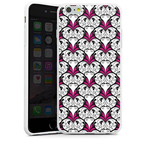Apple iPhone X Silikon Hülle Case Schutzhülle flower Ornament Muster Silikon Case weiß