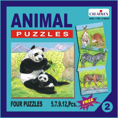Creative Educational Aids 0702 Animal Puzzle No. 2 (5 to 12 Piece)