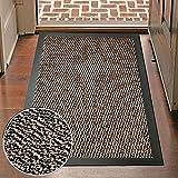 Große Schmutzfangmatte, Fußmatte, Eingangsmatte, rutschfest, qualitativ hochwertig, maschinenwaschbar, für Küchen, Türen, braun, 90 cm x 200 cm