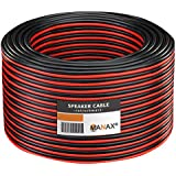 Manax SC2150RB-50 Lautpsrecherkabel 2x1,50 mm² CCA (Boxenkabel/Audiokabel), Ring 50 m, rot/schwarz