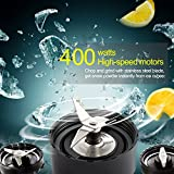 Libra 400 Watt Personal Nutri Blender for Smoothie Protein Shake Maker with 2 Portable Sports Jars