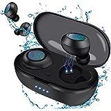 Auriculares Inalámbricos Bluetooth 5 aptX Graves Mejorados,IPX7 Impermeable,30 Horas y Carga Rápida USB-C,Control Táctil, Mic