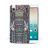 Stuff4® Hülle/Case für Huawei Honor 7i/ShotX/Elefant-Farbe Muster/Aztec Tier Muster Kollektion