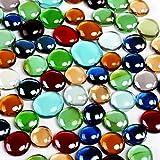 GWHOLE 500g Petits Galets Nacrés en Verre pour Décoration Aquarium Vase Table Salle de Bain