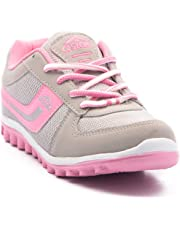 Asian Shoes Women's Light Grey And Pink Sports Shoes - 7 Uk