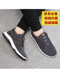a5dbafd8e16 LOVDRAM Bottes Homme Chaussures en Coton Hiver Nouveaux Chaussures  Décontractées Courroies en Daim Chaussures De Sport