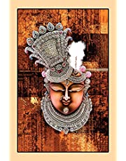 MPRO-TECH Krishna as Shrinathji Painting HD Print Wall Canvas for Living Room Big Size 90 X 60 cm (Design 11)