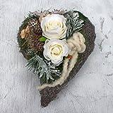 FRI-Collection Meisterfloristik Grabschmuck Grabgesteck Gesteck Totensonntag Allerheiligen weißen Rosen #44190