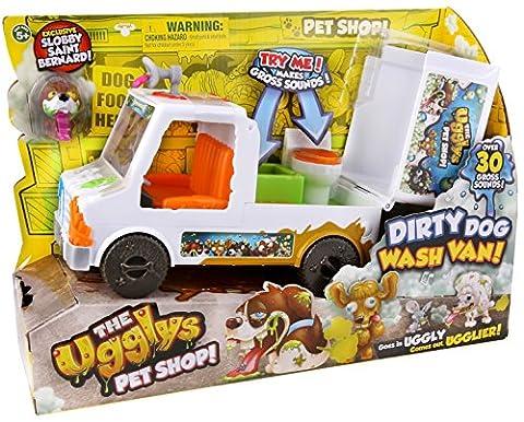 The Ugglys Pet Shop – Dirty Dog Wash Van – Fourgon de Toilettage Dégueulasse – Véhicule + 1 Figurine