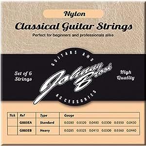 JOHNNY BROOK Set of 6 High Quality Nylon Classical Guitar ...