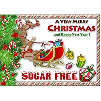 sugar free diabetic sweet chocolate christmas gift hamper mail box personalised label small christmas assorted