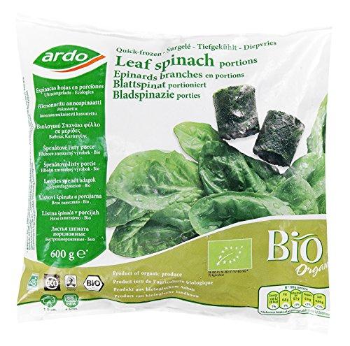 Epinards en branche BIO - 600 g - Surgelé