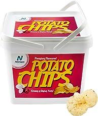 Neelam Foodland Box Pack Premium Flavoured Cream & Onion Potato Chips, 200g