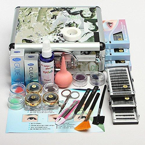 Luckyfine lashes kit per allungamento ciglia kit ciglia finte professionale e naturali strumenti completo per trattamenti ciglia