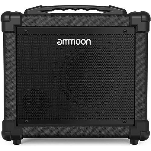 ammoon Amplificatore Chitarra Elettrica, Portatile da 10W Ampli Combo con Effetto di Distorsione Clean Gain Bass Treble Volume Controllo e Aux IN Jack