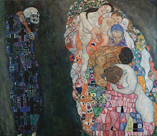 la-mort-et-la-vie-par-gustav-klimt-100-peint-a-la-main-lhuile-sur-toile-reproduction-de-grande-quali