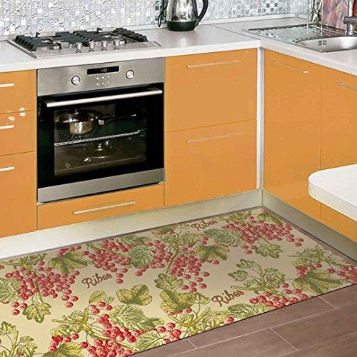 Catral 40020002Teppiche Küche und Flur Früchte, Rot, 2500x 67x 0.5cm