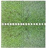 Grün Gras Effekt ineinandergreifende EVA Weiche Schaumstoff-Matte Übung Boden Fliesen Puzzle Matte Fitnessstudio Garage Büro Kinder spielen Matte Boden Teppichschutzmatte Aerobic Yoga Matten 8 Mats- 32 Sq Feet