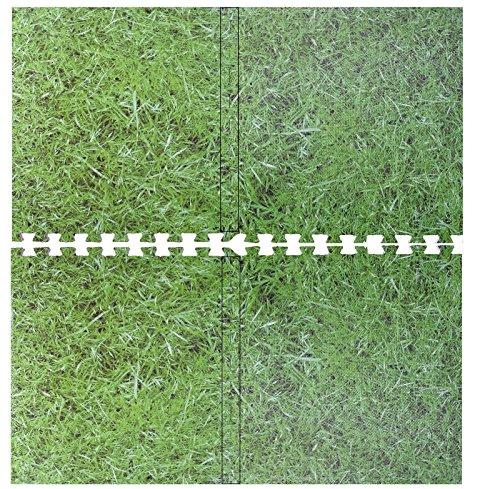Grasgrüne Yogamatte, aus ineinandergreifendem EVA-Schaumstoff, Puzzle-MAtte, für Garage, Fitnessstudio, Fliesen, Boden