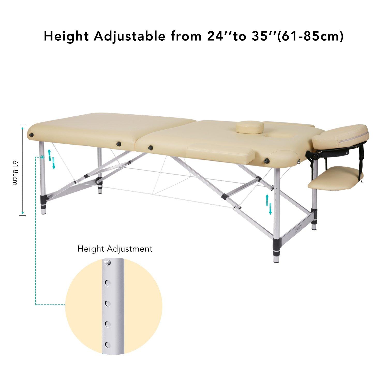 Lettino Da Massaggio Portatile Alluminio.Naipo Lettino Da Massaggio Deluxe Professionale Portatile A 2