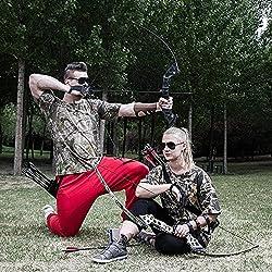 Funtress chasse Tir à l'arc Takedown pêche Arc long arc 30lbs arc droitier Dessine poids