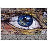 TOOGOO(R) 5X3FT Graffiti Wall Photography Backdrops Eyes Pattern Background for 90's Throwback Party Photobooth (style 3)