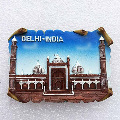Indien Souvenirs (DELHI INDIEN Souvenir Geschenk 3D, Polyresin, Küche Kühlschrank Magnet Tourist Souvenir)