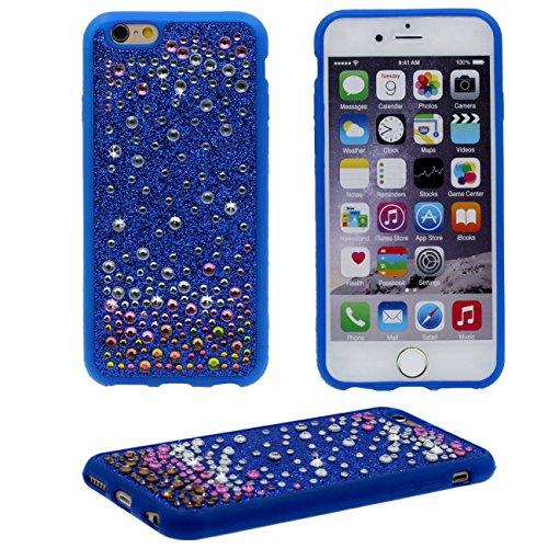 iPhone 6S Coque Protection Case - Rose, Brillant Bling Cristal Couverture arrière Souple Plastique Très Mince Poids Léger Housse Protection pour Apple iPhone 6 / 6S 4.7 inch bleu