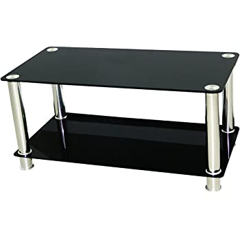 vidaxl table basse en verre 2 plateaux cuisine maison. Black Bedroom Furniture Sets. Home Design Ideas
