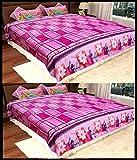 Homefab India Set Of 2 Double Bed Fleece...