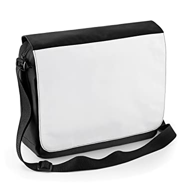 Plain Messenger Bag - Perfect for printing - by BagBase - Black ...