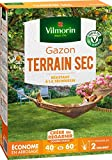 Vilmorin 4460514 Gazon Terrain Sec, Vert, 1 kg
