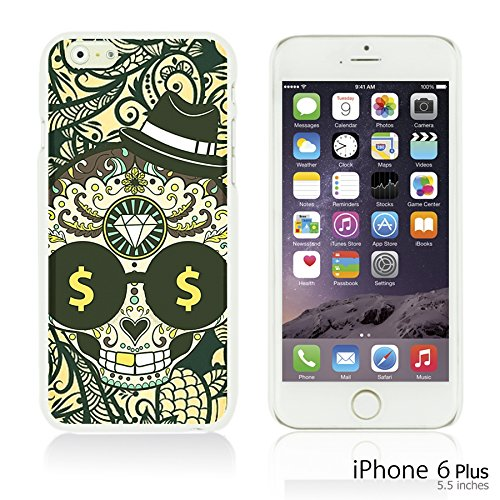 OBiDi - Skull Pattern Hardback Case / Housse pour Apple iPhone 6 Plus / 6S Plus (5.5)Smartphone - Floral Skull Skull with Paisley Background