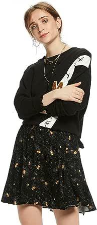 Printed Viscose Skirt by Maison Scotch