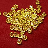 #2: Embroiderymaterial Crystal Beads for Craft and Jewellery Making(Lemon Zest Color, 144 Pices)