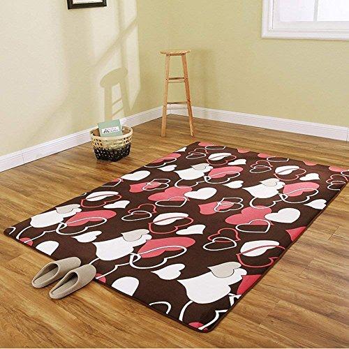 DHG Mats-Coral Fleece Decke/Wohnzimmer Tisch Sofa mit Decke/Erker von der Bettdecke abgedeckt,H,200X300Cm (79X118Inch) (Coral Tisch)