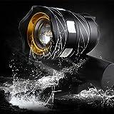 3Modi LED Wasserfest USB Fahrrad Lampe, 2500Lumen 5x T6Scheinwerfer Helle LED Fahrrad Lampe Scheinwerfer mit Akku Pack und Ladegerät für Outdoor, Reiten, Camping 54,5* 45* 75mm (L * D * H), Schwarz