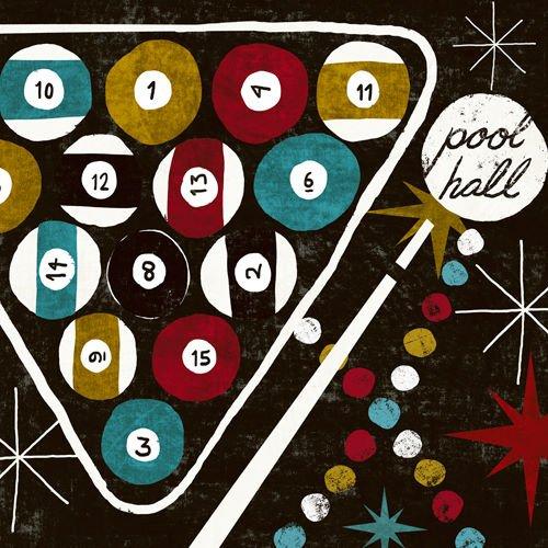 Keilrahmen-Bild - Michael Mullan: Vegas - Pool Hall 50 x 50 - Hall Pool Bilder