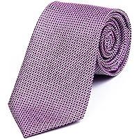 DonDon Cravatta uomo 7 cm classica fatta a mano per il lavoro o occasioni (Oro A Strisce Cravatta)