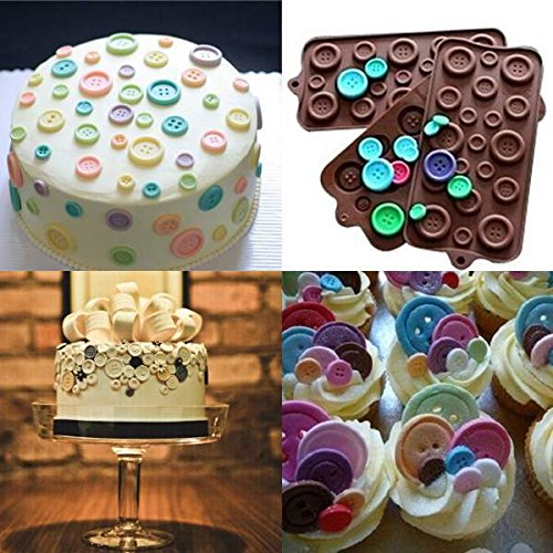 JoyGlobal Silicone Button Design Chocolate DIY All Purpose Mold