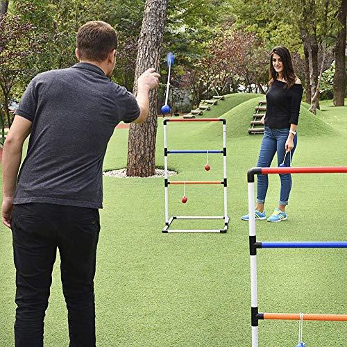 fllyingu Golf werfen Leiter , Ladder Ball Game Set Golf Toss Game Hinterhof Spielzeug Outdoor-Spiele für Erwachsene und Kinder Premium Ladder Toss Outdoor-Spiel -