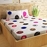 Story@Home Metro Series 186 TC Cotton Double Bedsheet With 2 Pillow Covers, Mercerized Finish - Queen Size, Multicolour