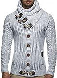 Leif Nelson Maglione lavorato a maglia da uomo LN4195 Grau L