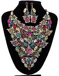 8c624d7a3d92 Necklace Pendant Gift Collar Pendientes Conjunto Vidrieras Collar Grande  Mariposa Fiesta Accesorios Nupciales Regalos de San