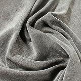 Stoff Baumwolle Polyester Nicki hellgrau Nicky weich grau