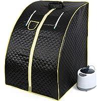 Sauna Vapeur Portable, Portable sauna Steamer,1000W (noir)