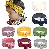 Joyfeel's Store Cintas para el pelo de Nylon para bebés Turbante Knotted Girls Hairband Super suave y elástica Wrap para reci
